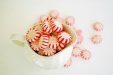 Free Pitcher And Christmas Candy Royalty Free Stock Photography - 3214867