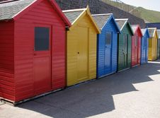 Free Whitby Beach Huts Stock Image - 3215081