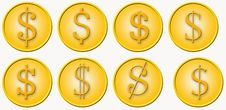 Free Dollar In Different Typefaces Stock Photo - 3215510