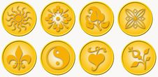Free Six Medals With Icons Stock Photo - 3215580