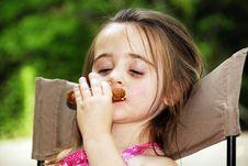 Free Pretzel Girl Royalty Free Stock Photos - 3215738