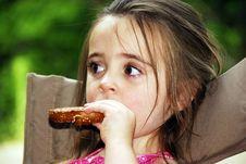 Free Pretzel Girl Stock Photo - 3215740