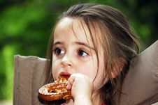 Free Pretzel Girl Royalty Free Stock Images - 3215759