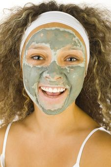 Free Green Facial Mask Royalty Free Stock Photo - 3216305