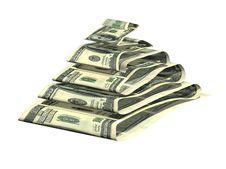 Free Dollar Pyramid Stock Image - 3216671