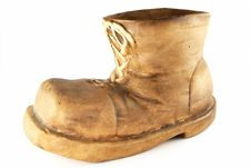 Ceramic Boot Vase Royalty Free Stock Photography