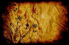 Free Floral Grunge Stock Image - 3217371