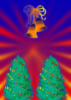 Free Christmas Bells And Tree Stock Photos - 3217393
