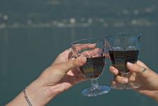 Free Glass Of Red Wine Royalty Free Stock Photos - 3217638