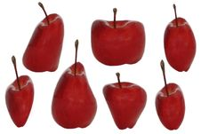 Free Isolated Warped Apples Stock Photography - 3218122