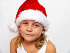 Free Child With Santa Hat Stock Photography - 3218232