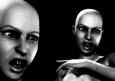 Free Two Angry Vamps Stock Images - 3218774