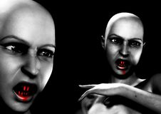 Free Two Angry Vamps 3 Stock Images - 3218784