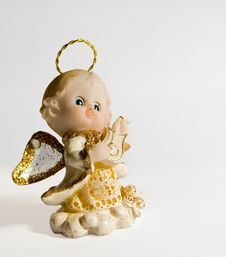 Free Small Musical Angel Figurine Royalty Free Stock Images - 3218849