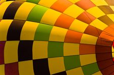 Bright Hot Air Balloon Canopy Royalty Free Stock Images