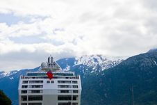 Free Cruise Ship And Mountains Stock Photos - 3219813