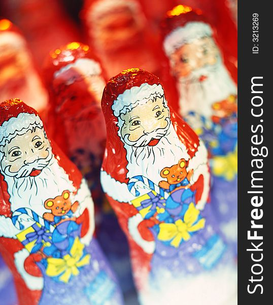 Santa Claus; chocolate
