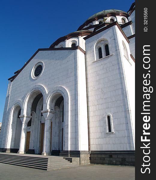 Entrance of St. Sava Church