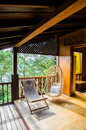 Free Chairs Inside A Wooden House Resort Royalty Free Stock Image - 32105286
