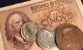 Free Italian Old Lire Money Stock Photo - 32106050