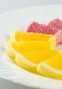 Free Jelly Fruits On A Plate Royalty Free Stock Photos - 32109828