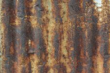 Free Rusty Corrugated Iron Royalty Free Stock Photography - 32100167