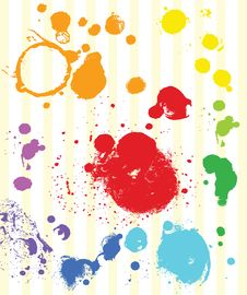 Free Watercolor Colorful Spots Set Stock Images - 32100264