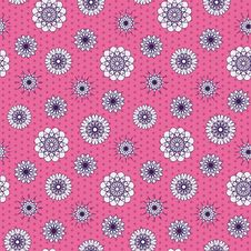 Free Flowers Seamless Pattern Royalty Free Stock Images - 32115069