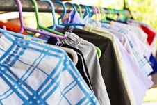 Free Mix Color Clothes And Tie Royalty Free Stock Photography - 32116627