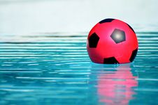 Ball In Pool Royalty Free Stock Photo