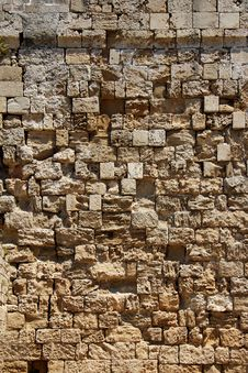 Free Old Rough Stone Wall Background Stock Images - 32118424