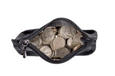 Free Coin Purse Full Of Coins Stock Images - 32120744