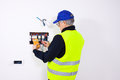 Free Electrician At Work Royalty Free Stock Photo - 32138835