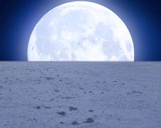 Free Desert Moon Premade Background Royalty Free Stock Photography - 32131157