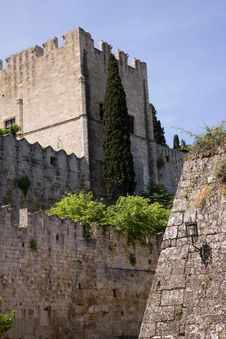 Free Rodos Castle Royalty Free Stock Photography - 32139187
