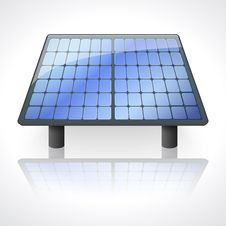 Solar Battery Panel  On White Background Royalty Free Stock Photos
