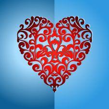 Free Elegant Ornate Love Heart Royalty Free Stock Photos - 32147968