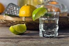 Tequila And Lime Stock Photo