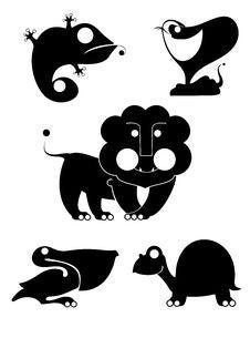 Free Art Animal Silhouettes Stock Photo - 32160950
