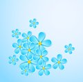 Free Greeting Card With Paper Flower. Royalty Free Stock Photos - 32173078