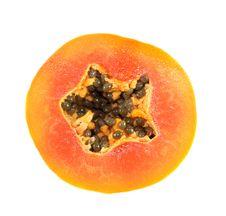 Free Papaya Circle Portion Stock Photography - 32170012