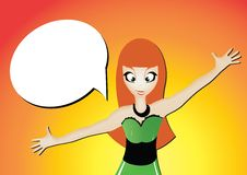 Free Vector Girl With Open Arms Royalty Free Stock Photo - 32173045