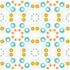 Free Abstract Floral Seamless Pattern Royalty Free Stock Photos - 32173408