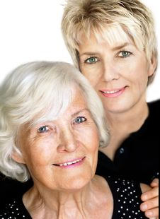 Senior Woman  And Mature Daughter 4 Royalty Free Stock Photos