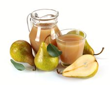 Pear Juice And Fruit Royalty Free Stock Images