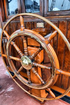 Free Steering Wheel Sailboat Stock Image - 32178091