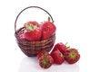 Free Basket Full Of Strawberry Fruit Royalty Free Stock Photo - 32188545
