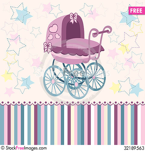 Free Baby Pram Stock Photos - 32189563