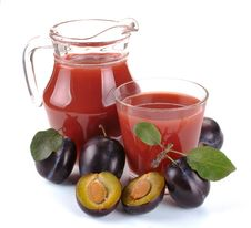 Free Plum Juice And Fruit Stock Images - 32183174