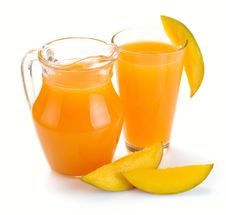 Free Mango Juice And Fruit Stock Images - 32183904